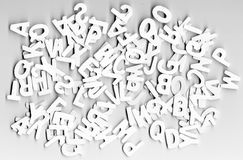 Babel letters Stock Image