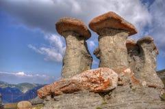 babele bucegi carpati罗马尼亚 免版税库存图片