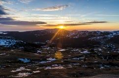 Babele en la puesta del sol Imagen de archivo