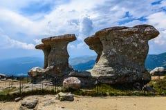 Babele - Geomorphologic rocky structures in Bucegi Mountains, Romania Stock Image