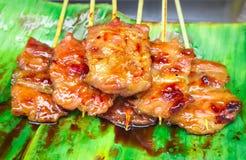Babeque de porc de style de la Thaïlande Images libres de droits
