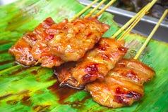 Babeque de porc de style de la Thaïlande Photos libres de droits
