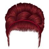 Babette волос с цветами отрезка провода красными ультрамодная мода женщин иллюстрация штока