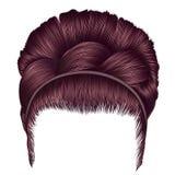 Babette волос с цветами пинка меди отрезка провода ультрамодные женщины бесплатная иллюстрация