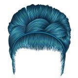 Babette волос с цветами сини отрезка провода ультрамодная мода женщин бесплатная иллюстрация