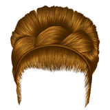 babette волос с цветами отрезка провода белокурыми ультрамодный стиль красоты моды женщин ретро redhead света стиля причёсок иллюстрация штока