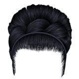 Babette av hår med råttsvansbrunettsvart färgar alla några individuella objekt för elementmodeillustrationen skalar formattexture Arkivfoto