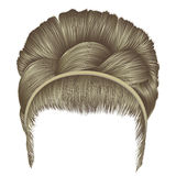 Babette of hairs with pigtail blond colors . trendy women fashio. N Royalty Free Stock Image