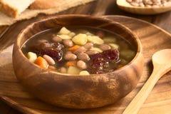 Ουγγρική σούπα φασολιών Babgulyas Στοκ εικόνες με δικαίωμα ελεύθερης χρήσης