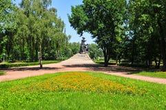 Babi Yar纪念碑在基辅 图库摄影