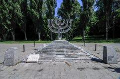 Babi Yar Menorah纪念碑在基辅 库存图片
