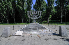Babi Yar Menorah Monument in Kiev Stock Image
