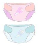 babie pieluszki pieluszek rozporządzalna ilustracja Obraz Royalty Free