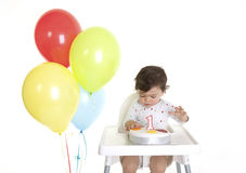 Babies 1st Birthday Stock Images