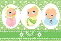 Babies. Delicate vector illustration with babies Stock Photos