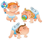 Babies. Types of Babies, vector image, software: Illustrator Royalty Free Stock Image
