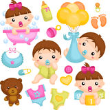 Babies in Action Royalty Free Stock Photography