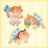 Babies with background Royalty Free Stock Photography