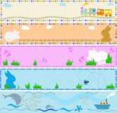 Babies banners Stock Images