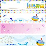 Babies banners Royalty Free Stock Photo