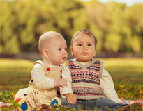 Babies brothers Royalty Free Stock Photography