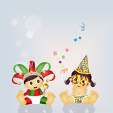 Babies with Carnival costume Stock Image