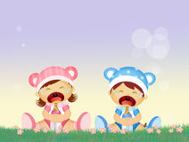 Babies cries Royalty Free Stock Photo