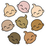 Babies of different races Stock Images
