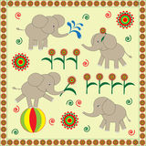 Babies elephants Royalty Free Stock Photography