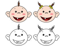 Babies faces Royalty Free Stock Images