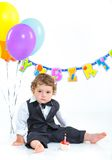 Babies' first birthday one year. Royalty Free Stock Photos