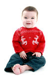 Babies first christmas royalty free stock photo