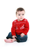 Babies first christmas Stock Photos