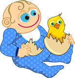 Babies First Easter stock illustration