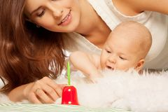 Babies first toys Royalty Free Stock Images
