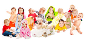 Babies group stock photography