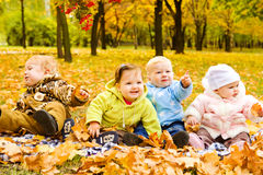 Babies group Royalty Free Stock Image