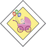 Babies have the right of way Royalty Free Stock Photos