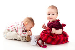 Babies having fun Royalty Free Stock Photos