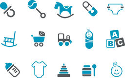 Babies Icon Set Royalty Free Stock Image