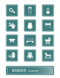 Babies icon set Royalty Free Stock Photos