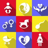Babies icons Royalty Free Stock Image