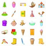Babies icons set, cartoon style Royalty Free Stock Photography