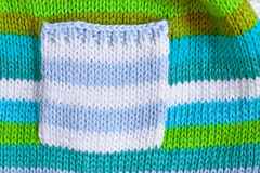 Babies' jumper. Close up of the pocket  of a babies' jumper Royalty Free Stock Photos