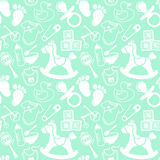 Babies Mint pattern Stock Photography