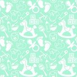 Babies Mint pattern. Mint seamless pattern about babies Stock Photography