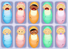 Babies in the nursery Stock Image