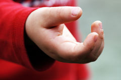 Babies open hand Stock Images