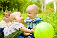 Babies in the outdoor Royalty Free Stock Photos