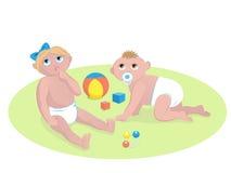 Babies playing Stock Photos